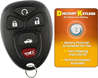Discount Keyless Replacement Key Fob Car Entry Remote For Chevy Impala Monte Carlo Lucerne DTS OUC60270, 15912860