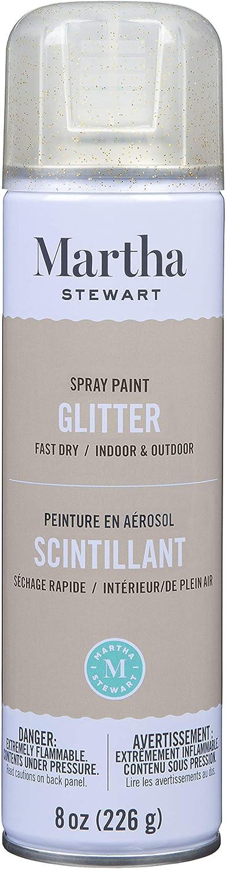 Martha Stewart Paint & Primer 8oz Spray Paint, Glitter Florentine Gold 8 Ounce