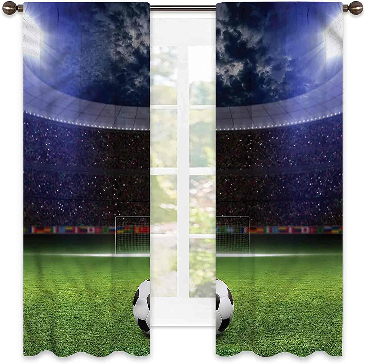 Sports 90% Blackout Curtains Stadium Arena Soundp in The New sales Night Time sale