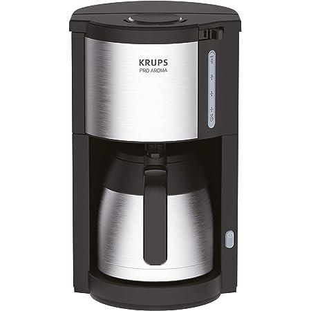 Krups KM305D10 ProAroma Cafetière Isotherme Noir/Inox