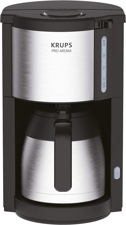 Krups KM305D10 ProAroma Cafetière Isotherme Noir Inox