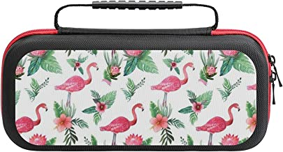 Watercolor Flamingo Dream Garden Jungle Case Compatible with Switch Case Protective Carry Bag Hard Shell Storage Bag Porta... photo