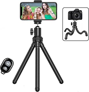 Phone Tripod,Shengsite Portable and Extendable Camera Tripod Stand with Wireless Remote Shutter & Universal Clip 360°Rotat...