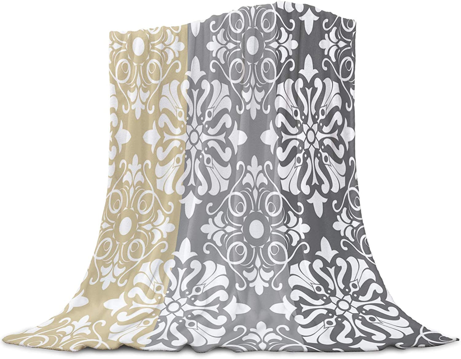 Interhear Bed Ranking TOP2 Throws Blankets Elegant Floral Fleece Lig sold out Flannel