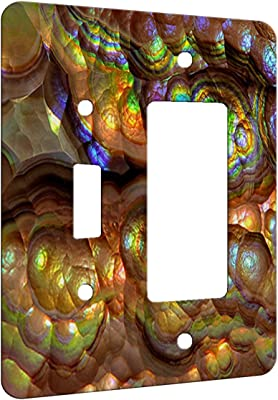 Crystal Rainbow Opulence Decor Switch Plate Cover Metal 2 Gang 1 Toggle 1 Decora Combo Wall Plate Metal