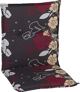 Dunkelbraun 8 cm Beo NL Sitzkissen Gartenstuhlauflage Niedriglehner Premium Serie Nizza P202 100 cm x Breite 52 cm x Dicke ca
