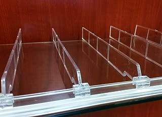 Universal Shelf Lip & Adjustable Depth Divider Kit, [10] 48