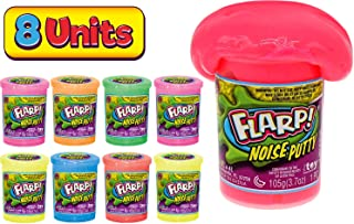 JA-RU Flarp Noise Fart Putty (Pack of 8) Plus 1 Bouncy Ball Fart Noise Maker Slime | Item #10041-8A