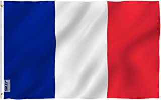 Anley Fly Breeze 3x5 Foot France Flag - Vivid Color and UV Fade Resistant - Canvas Header and Double Stitched - French National Flags Polyester with Brass Grommets 3 X 5 Ft