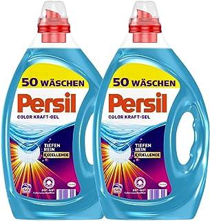 Persil Color Kraft-gel, 100 (2 x 50 wasladen), kleurwasmiddel met diepterein-Plus-technologie bestrijdt de meest hardnekki...