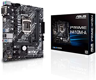 ASUS Prime H410M-A - Placa Base mATX Intel de 10a Gen LGA 1200, M.2, DDR4 2933 MHz, LAN 1Gb, HDMI, DVI, VGA, USB 3.2 Gen 1, Cabezal COM y TPM.