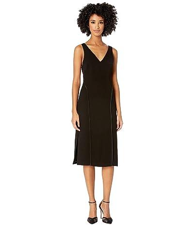 Jason Wu Stretch V-Neck Sleeveless Dress (Black) Women