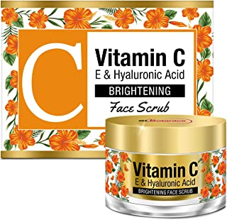 StBotanica Vitamin C, E & Hyaluronic Acid Brightening Face Scrub, 50g