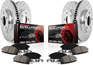 Power Stop K6560 Front & Rear Brake Kit with Drilled/Slotted Brake Rotors and Z23 Evolution Ceramic Brake Pads