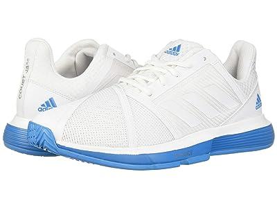 adidas CourtJam Bounce (Footwear White/Footwear White/Shock Cyan) Men