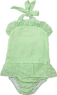 MONOBLANKS Cute Baby Girls Ruffle Seersucker Swimwear Two Piece Bikini Swimsuit Can be Monogrammed