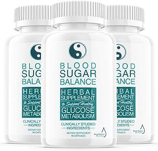 (3 Pack) Blood Sugar Balance Support Supplement, Blood Sugar Herbal Advanced Formula Pills Capsules - Supports Diabetic Hi...