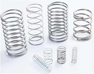 Size : 0.6 x 5 x 10mm F-MINGNIAN-SPRING 20pcs Wire Diameter = 0.6mm OD =5mm Stainless Steel Micro Return Small Compression Anti Corrosion Extension Springs L=10-50