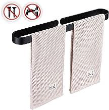 7WUNDERBAR Handdoekstang, handdoekhouder, handdoekstang, zonder boren, 40 cm, voor badkamer, keuken, eenvoudige montage (z...