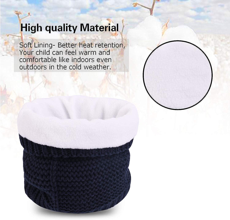 Hawiton Kids Hat Scarf Set Boys Girls Winter Warm Cute Pom Pom Beanie Knit Scarves Earflap Cap with Ears