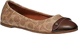 코치 브랜디 플랫슈즈 - 탠 새들 COACH Brandi Ballet Flat,Saddle/Tan Logo