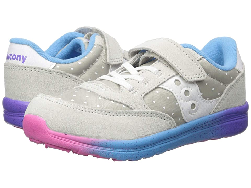 Saucony Kids Originals Jazz Lite (Toddler/Little Kid) (Grey/Multi) Girls Shoes