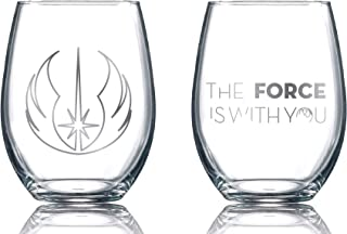 Silver Buffalo SW031T1 Star Wars Characters with Names Glass Tumbler Set 4-Pack Disney