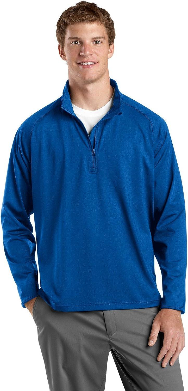 SPORT-TEK Mens Tall Sport-Wick Stretch 1/2-Zip Pullover