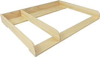 comprar comparacion PuckDaddy XXL-H+ madera natural + separación! Cambiador superior (108 cm) con bordes redondeados para todas las cómodas He...