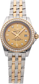 Breitling Galactic Quartz (Battery) Gold Dial Womens Watch C7133053/H550 (Certified Pre-Owned)