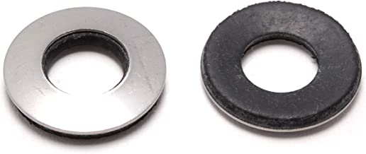 """1/2"""" x 1"""" OD Stainless EPDM Washers, (50 pc) Neoprene Backed, Choose Size & Qty, by Bolt Dropper"""