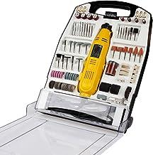 Mini-Amoladora recta eléctrica I maletín plástico con 243 piezas, 135 W I Herramienta rotativa, Mini Taladro, accesorios