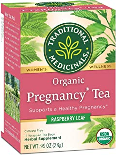 Traditional Medicinals Organic Pregnancy Herbal Tea 2-Pack;32 Count.