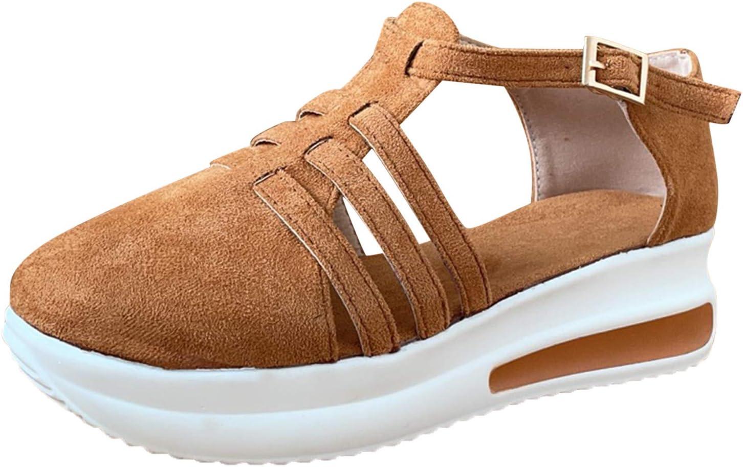 Fullwei Women's 5 ☆ very popular Cheap super special price Fashion Wedge Platform Ladi Strap Buckle Sandals