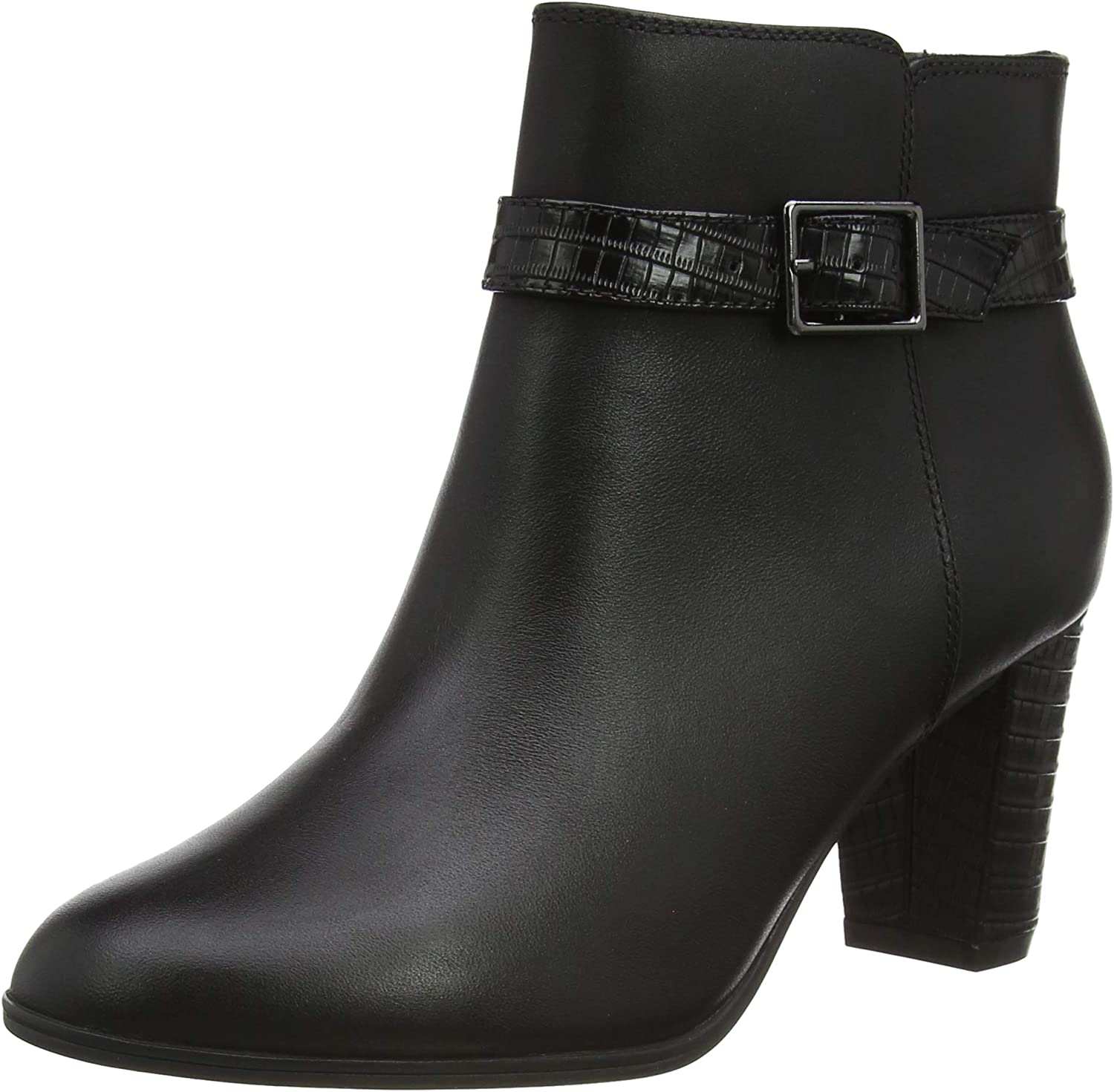 Clarks Max 57% OFF Women's Alayna Juno Ankle Boot Black Combi Tucson Mall