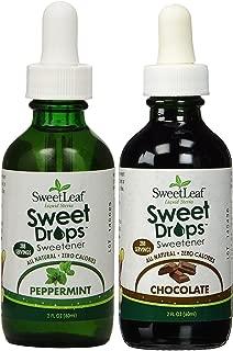 SweetLeaf Sweet Drops Liquid Stevia Sweetener Peppermint & Dark Chocolate,2 oz (Combo Pack of 2)