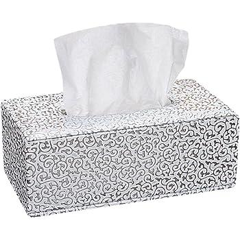 JUNGEN Piel tejido caja de pañuelos de decoración para hogar oficina y coche, Blanco, 25.5*14*9.5cm: Amazon.es: Hogar