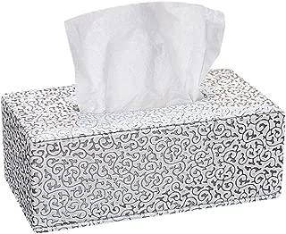 JUNGEN Piel tejido caja de pañuelos de decoración para