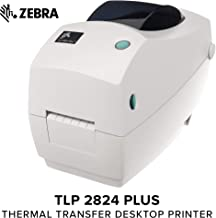 ZEBRA- TLP2824 Plus Thermal Transfer Desktop Printer for Labels, Receipts, Barcodes, Tags, and Wrist Bands - Print Width of 2 in - Serial and USB Port Connectivity (Renewed)