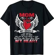 Mom & Dad My Angels Tshirt - in memory of parents In Heaven