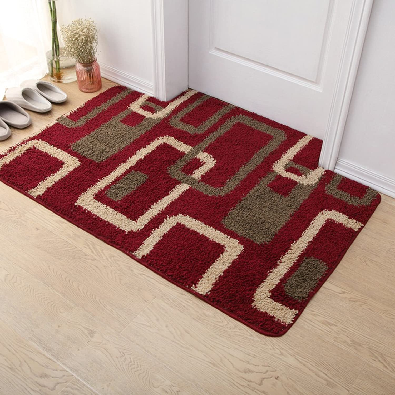 Thick,Yarn Doormat Bedroom,Living Room,Water-Absorbing Mats Hall,Dust Control Mat Mat Cushion-D 70x140cm(28x55inch)