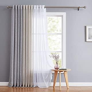 linen grommet sheer curtain panel threshold