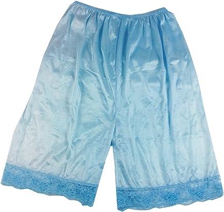 67d9f0a867 PTP06 fair Blue Nylon underworks Pettipants for Women Half Slip Plus Size  Lingerie Intimates