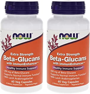 Beta-Glucans with ImmunEnhancer™ 60 VegiCaps (Pack of 2)