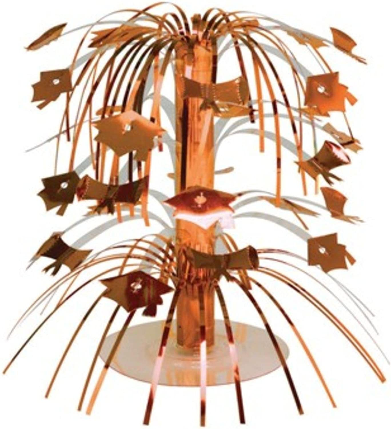 Pack of 12 Sunkissed orange Mini Cascade Centerpiece Graduation Party Decorations 8.5