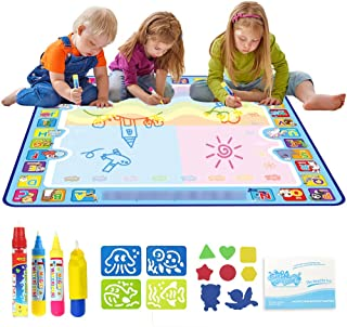 TIM 100x100 cm Mat Children's Drawing Writing Graffiti Board Toy Color Graffiti Painting Mat with Magic Pen Educational T...