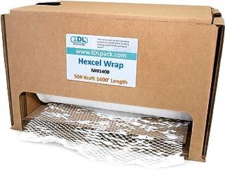 IDL Packaging HexcelWrap Cushioning White Kraft Paper 15.25