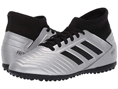 adidas Kids Predator 19.3 TF Soccer (Little Kid/Big Kid) (Silver/Black/Hi-Red Red) Kids Shoes