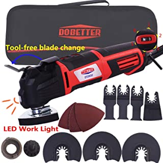Dobetter Oscillating Tool, 2.8-Amp 6 Variable Speed Oscillating Multi-Tool, Oscillating Saw with Saw Blades and Carry Bag -OT2832 (Oscillating Tool)