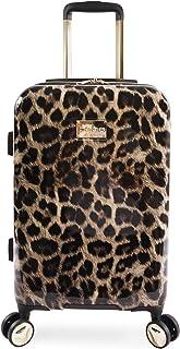 "BEBE Women's Adriana 21"" Hardside Carry-on Spinner Luggage, Leopard"
